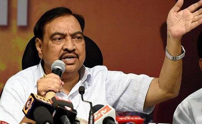 Eknath Khadse Hits Out At Political Detractors Over 'False' Allegation