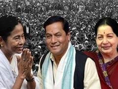 कांग्रेस के गढ़ असम पर बीजेपी का कब्जा, बंगाल में दीदी तो तमिलनाडु में जया ने दिखाया दम