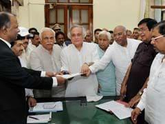 Jairam Ramesh, Oscar Fernandes File Nominations For Rajya Sabha Polls