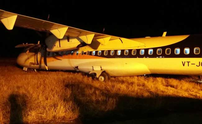Jet Airways Plane Skids Off Runway At Indore Airport
