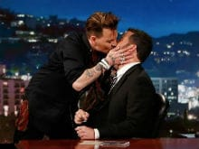 When Johnny Depp Kissed Jimmy Kimmel on His Show