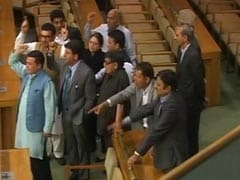 Chaos In Jammu And Kashmir House, Opposition Disrupts Governor's Address