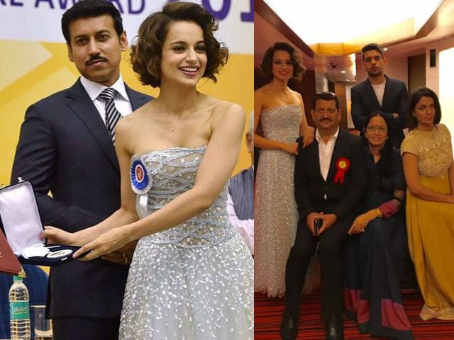 Kangana Collects National Award, 'Matter of Great Pride,' Says Father