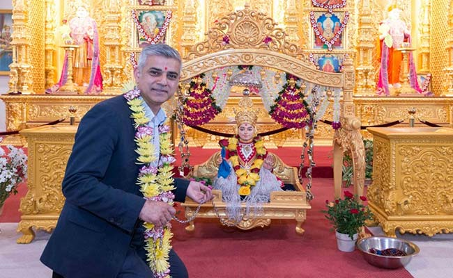 Pictures Of London Mayor Sadiq Khan's 'Favourite Temple' Visit Go Viral