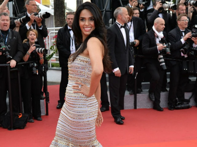 Cannes 2016: Spotted, Mallika Sherawat in Dolce & Gabbana