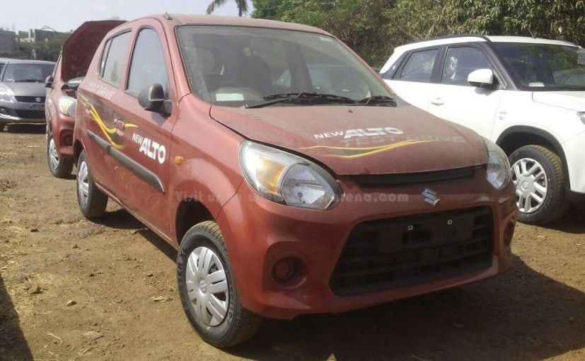 Maruti Suzuki Alto 800 Facelift Interior Revealed in New Spy Images