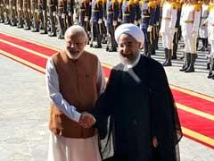 PM Narendra Modi Accorded Ceremonial Welcome In Iran