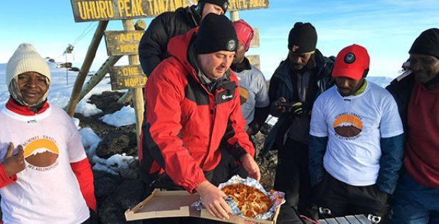 Pizza Hut Delivers Pizza to the Top of Mt. Kilimanjaro: Scores a Guinness World Record