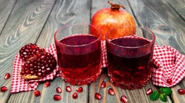 pomegranate juice 625