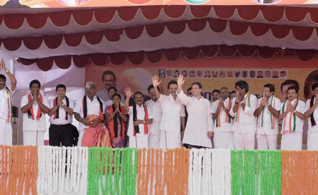 91 Arrested For Black Flag Protest Against Rahul Gandhi's Tamil Nadu Visit