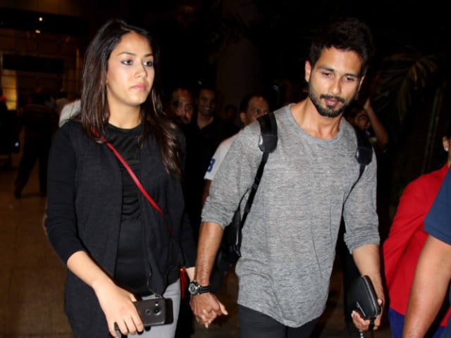Shahid Kapoor and Mira Fly Home From Babymoon in Maldives