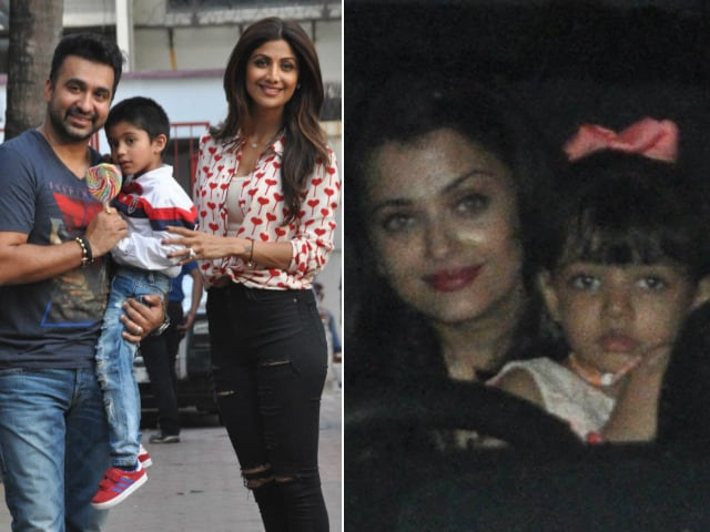 A Family Pack Photo: Aishwarya-Aaradhya at Shilpa's Son Viaan's Birthday