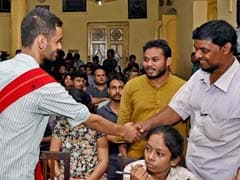 BJP Yuva Morcha Stages Protest March Against Umar Khalid