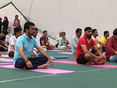 International Yoga Day: BCCI Chief Anurag Thakur Performs Yoga In Himachal Pradesh