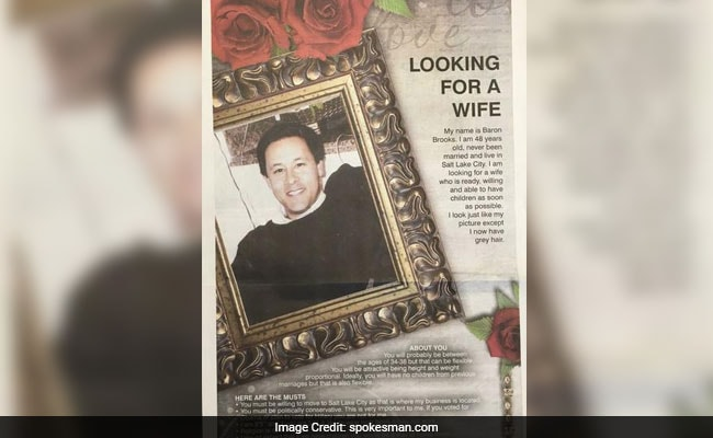 Dad Takes Out Full-Page 'Wife Wanted' Newspaper Ad For Son