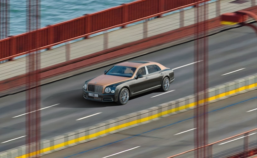 Bentley Mulsanne on Golden Gate Bridge