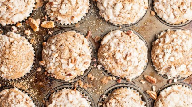 bircher muesli with muffins