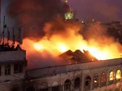 Huge Fire In Building On Colaba Causeway In South Mumbai