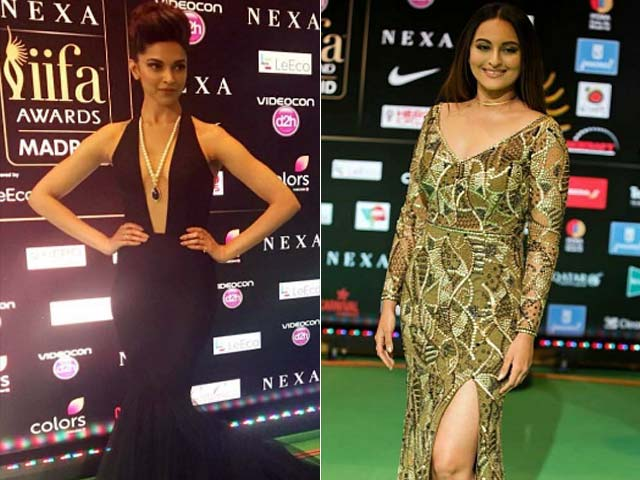 Fashion Ka Jalwa: Deepika, Sonakshi, Bipasha on IIFA Green Carpet