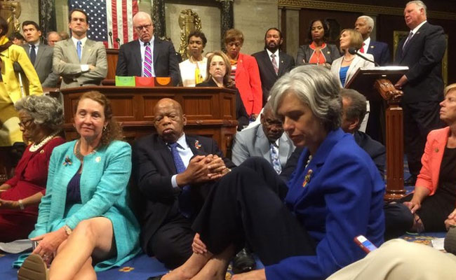 Democrats Create Havoc On US House Floor Over Gun Control Legislation