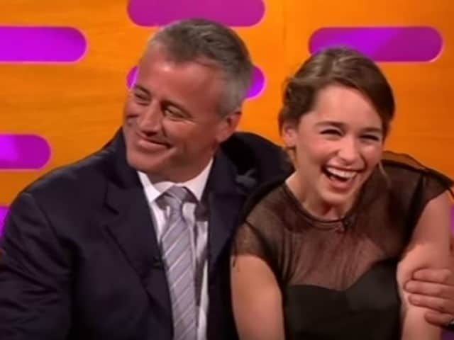 Matt LeBlanc Said 'How You Doin?' This is How Much Emilia Clarke Blushed