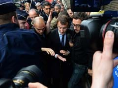Angry Workers Lob Eggs At French Economy Minister Emmanuel Macron