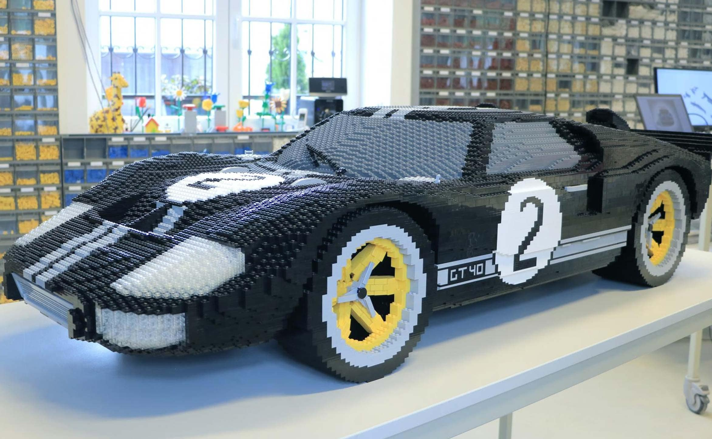 ford commemorates 1966 le mans win with lego ford gt ndtv carandbike. Black Bedroom Furniture Sets. Home Design Ideas