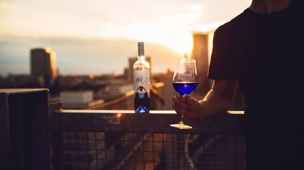 Blue Wine, the New Trendy Drink Of the Moment?