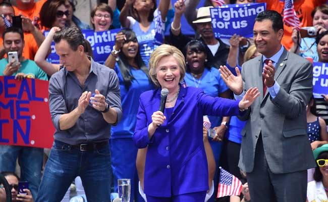 अमेरिकी राष्ट्रपति चुनाव : डेमोक्रेटिक प्रत्याशी हिलेरी न्यूजर्सी प्राइमरी में जीतीं