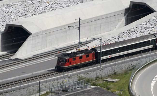 World's Longest Rail Tunnel Is Open. 57 Km Long, Designed In 1947