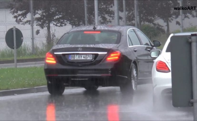 2017 Mercedes Benz S Class Facelift Spotted Testing Again
