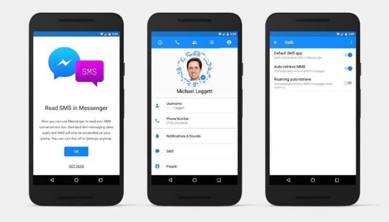 messenger sms app