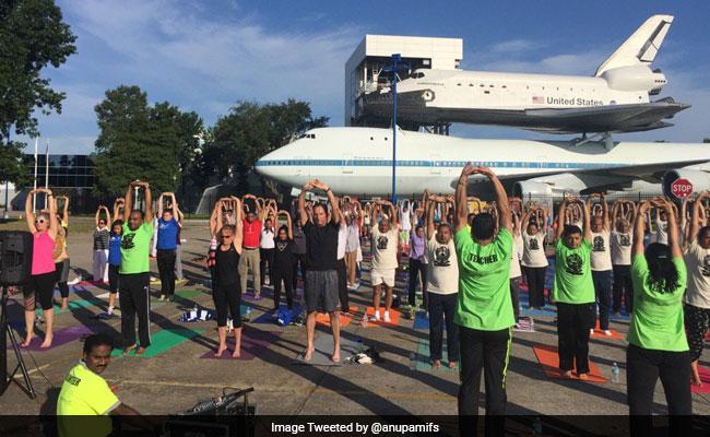 Houston Celebrates Yoga Event At NASA Space Center