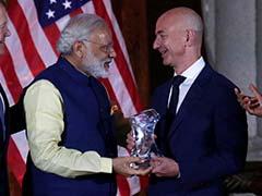 With PM Modi Watching, Jeff Bezos Of Amazon Makes Big India Pledge