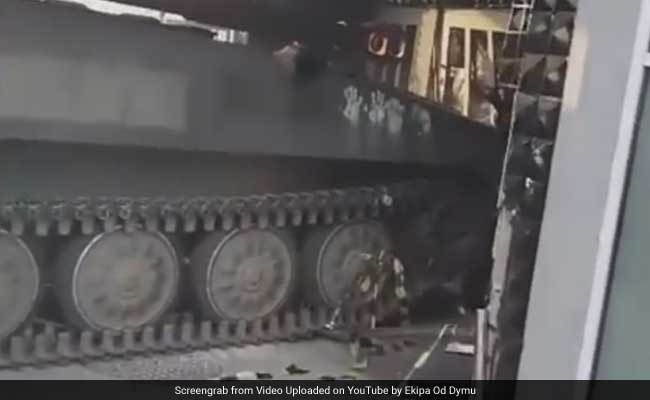 Party Spoiler: Out Of Control Soviet Tank Crashes Into Polish Disco