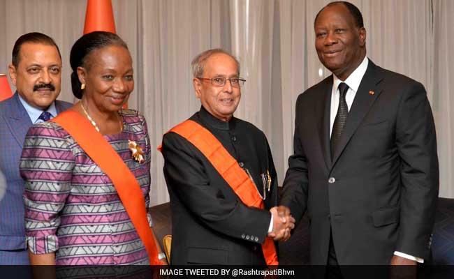 President Pranab Mukherjee Awarded Highest Honour Of Cote D'Ivoirie