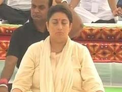 Smriti Irani Leads Yoga Day Celebrations In Madhya Pradesh