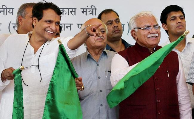 Suresh Prabhu Flags Off Maiden Train Between Sonipat And Jind