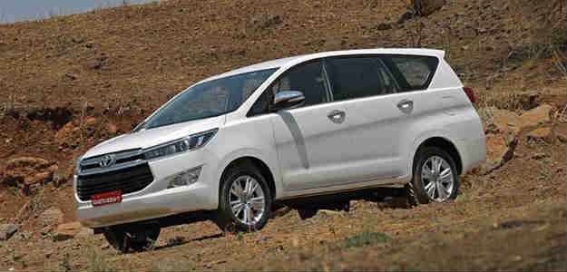 The Drive The Nation campaign offers 100 per cent on-road financing on the Toyota Innova Crysta