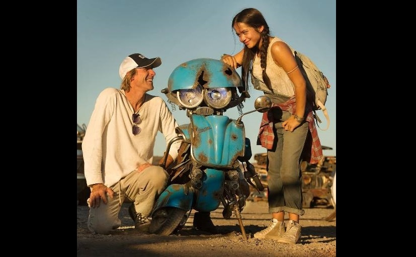 Micheal Bay and Isabela Moner with Squeaks