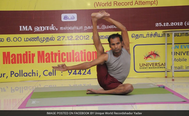 Man Performs Yoga For 69 Hours Aiming To Enter Record Book