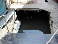 Commuters Fall Into Gutter As Slab Outside Vasai Station Caves In