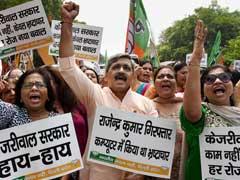 Delhi BJP Stages Protest, Demands Arvind Kejriwal's Resignation
