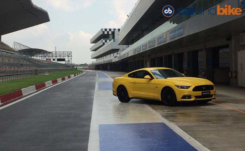 Ford Mustang On the Track
