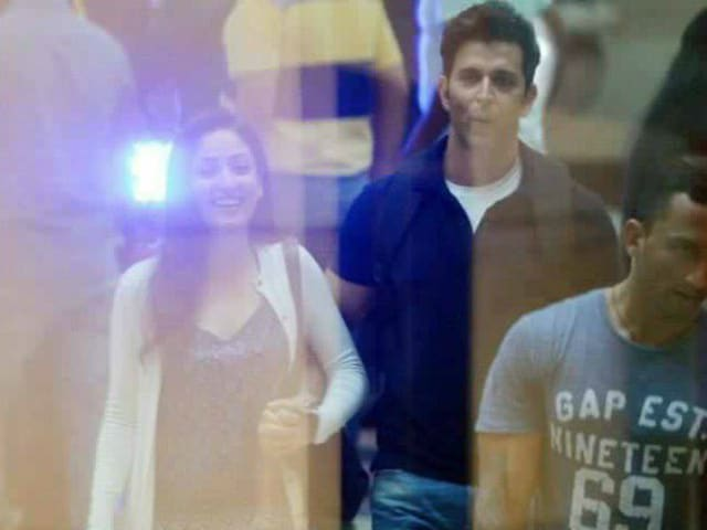 Hrithik Roshan and Yami Gautam Spotted Filming Kaabil