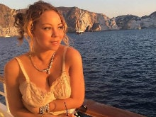 Look at Mariah Carey Being Fabulous in a Nightie and Diamonds on a Yacht