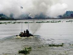 सेना का अभ्यास 'मेघ प्रहार', दिल्ली से करीब यमुना नदी में ताकत का प्रदर्शन