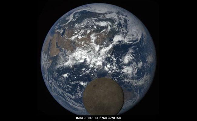 NASA Camera Captures Moon 'Photobombing' Earth Again