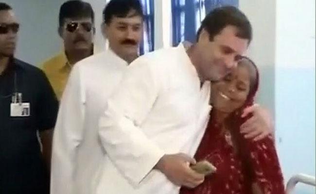 उना दौरे में हत्या के प्रयास की आरोपी महिला को गले लगाकर विवादों में घिरे राहुल गांधी