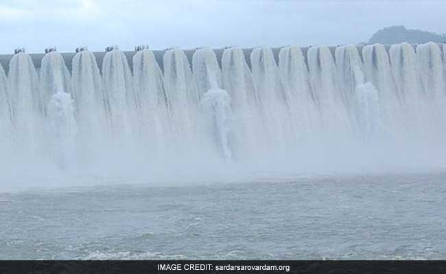Release Of Water From Sardar Sarovar Dam Tunnel Stopped After Heavy Rain